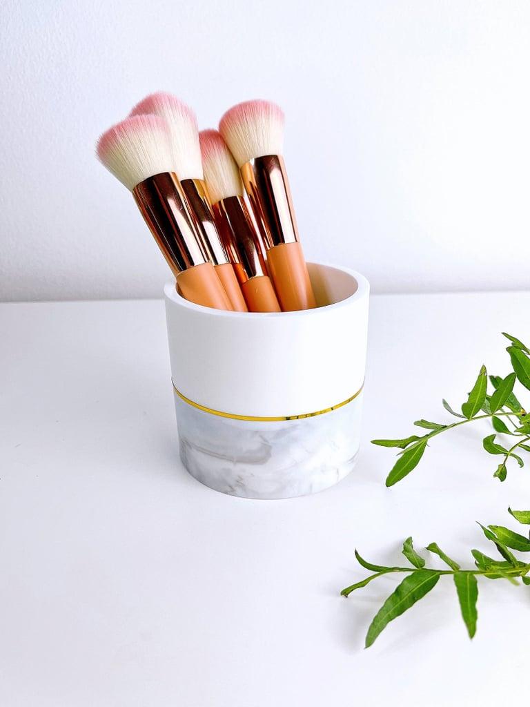 White/Marble Makeup Brush Holder