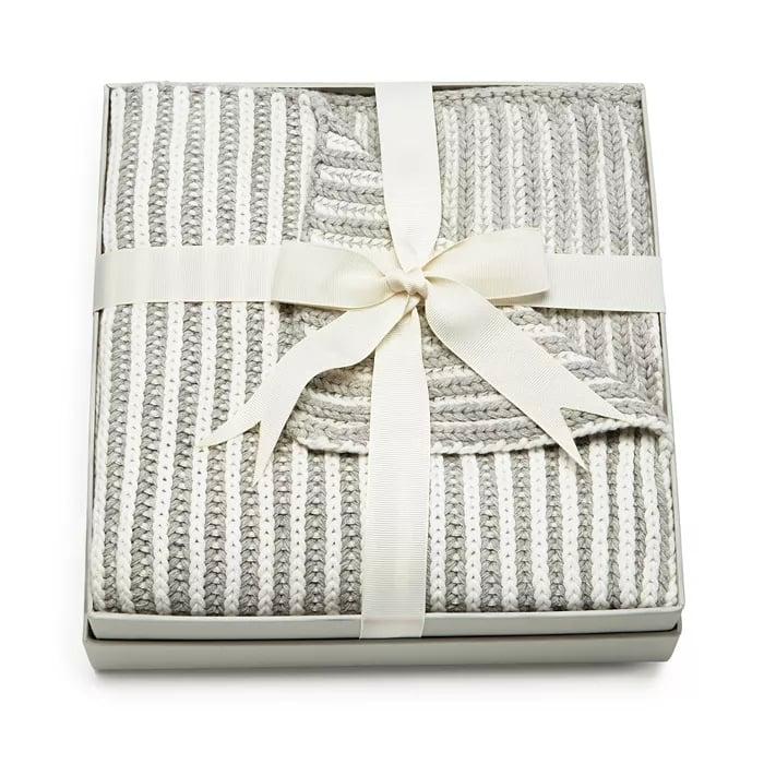 Elegant Baby Unisex Twisted-Yarn Blanket
