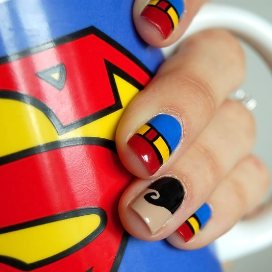 4 Clever Comic-Inspired Nail Ideas For Superman Lovers