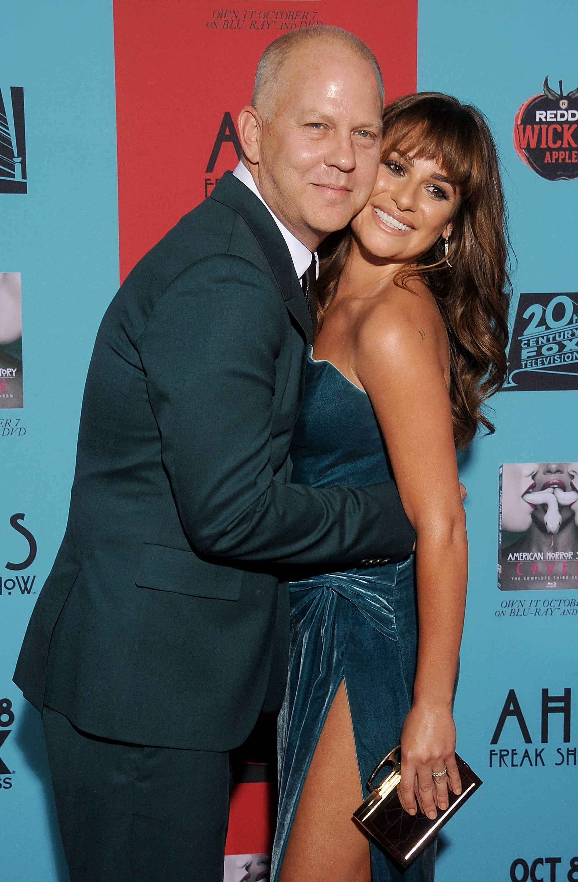 HOLLYWOOD, CA - OCTOBER 05: Director Ryan Murphy and actress Lea Michele arrive at the Los Angeles premiere of