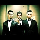 The Jonas Brothers posed together for a dapper snap. Source: Instagram User adamjosephj