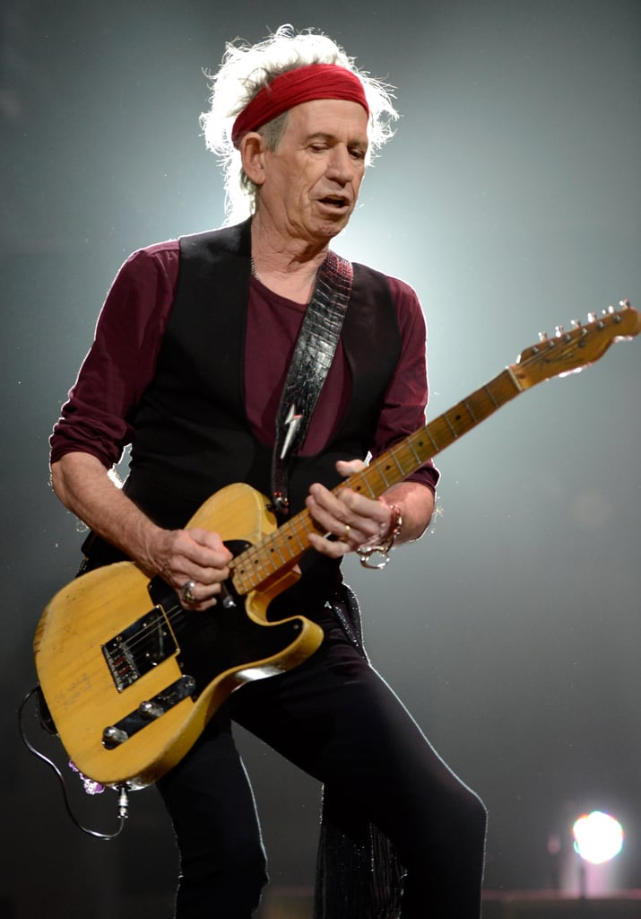 Keith Richards was on stage to support the victims of Hurricane Sandy.