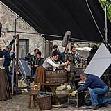 Caitriona Balfe filming a scene in season one.
