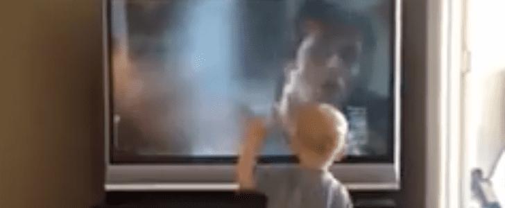 Boy Impersonates Rocky Balboa Training Montage