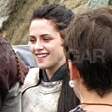 Kristen Stewart films Snow White and the Huntsman.