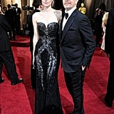 Gary Oldman let wife Alexandra Edenborough be the standout in a curve-flaunting strapless gown.