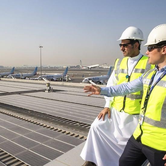 تركيب أكبر نظام طاقة شمسية في مطار دبي الدولي 2019