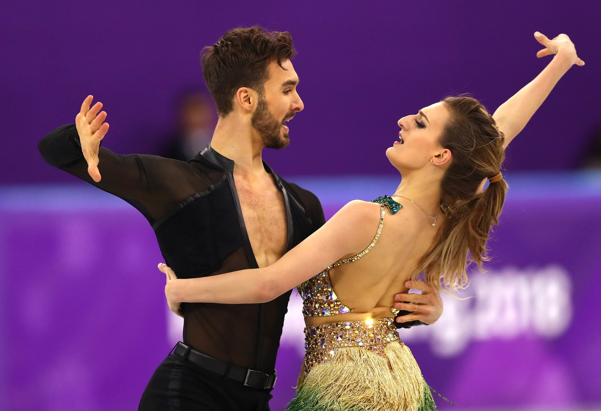 Team France Ice Dancing Wardrobe Malfunction Popsugar Fitness Pair Gabriella