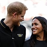 Meghan Markle Black Belted Dress at Baseball Game