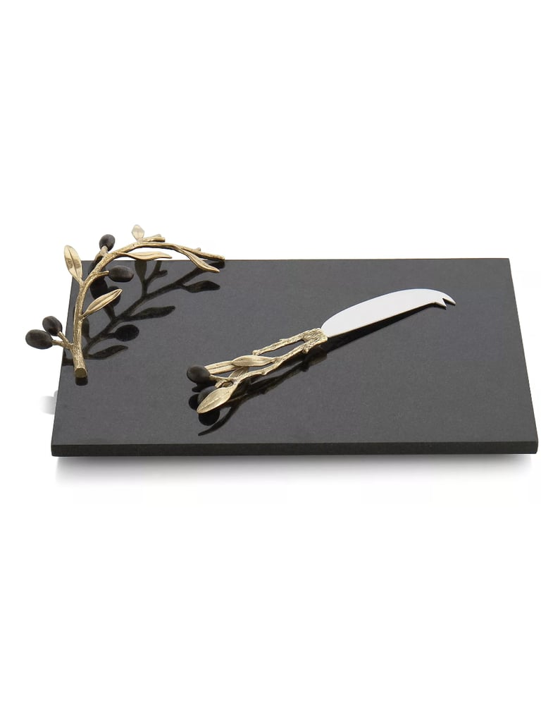 Michael Aram Olive Branch Two-Piece Cheese Board and Knife Set