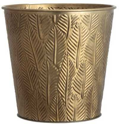 Small Embossed Metal Plant Pot ($13)