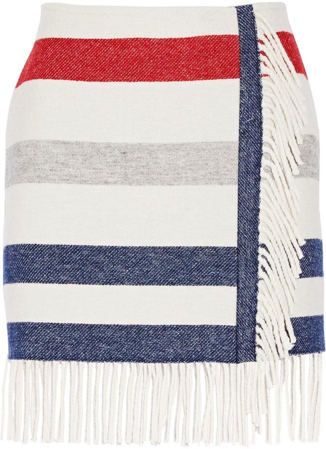 Paul & Joe Titane Striped Wool-Blend Mini Skirt ($146, originally $365)