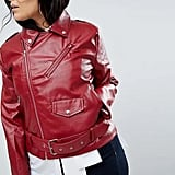 Boohoo Plus Leather Look Belted Jacket
