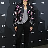 May at the AOL Newfront in New York City