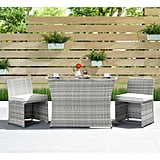 Rithland 3 Piece Dining Set with Cushions