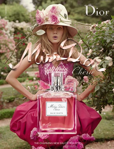 Miss Dior Cherie EDT Advertisement with Maryna Linchuk