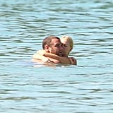 Naomi Watts and Liev Schreiber got romantic in the water in Barbados.