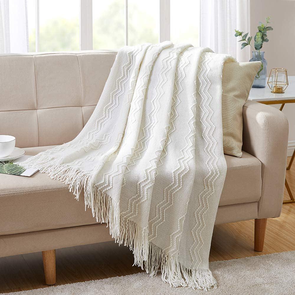 Bourina Throw Textured Blanket