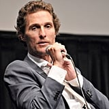 Matthew McConaughey talked on stage at the Killer Joe screening in NYC.