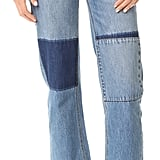 The patchwork on the Rebecca Taylor pant legs ($235) almost appears invisible.