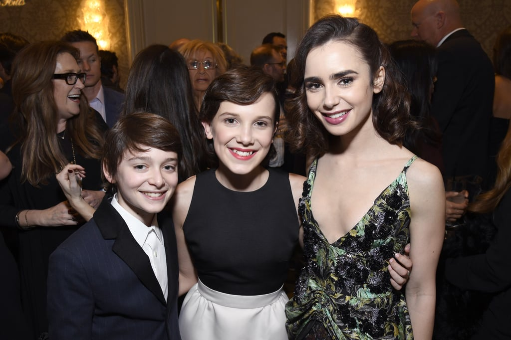 At the BAFTA Tea Party, They Met a Slew of Other Celebs, Including Lily Collins . . .