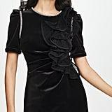Self Portrait Velvet Ruffle Mini Dress