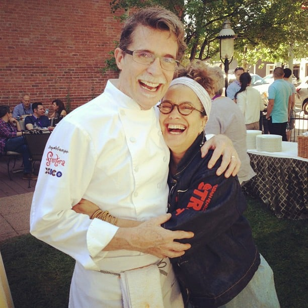 Susan Feniger was all smiles next to Rick Bayless.  Source: Instagram user susanfeniger