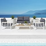 Vera 4-Piece Aluminum Patio Conversation Set