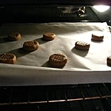 Cookies in the oven.