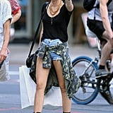 Miley Cyrus worked her edgy new haircut as she hit the streets of New York on August 23.