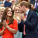 Kate and Prince William shared a sweet glance during Wimbledon in the beginning of July.