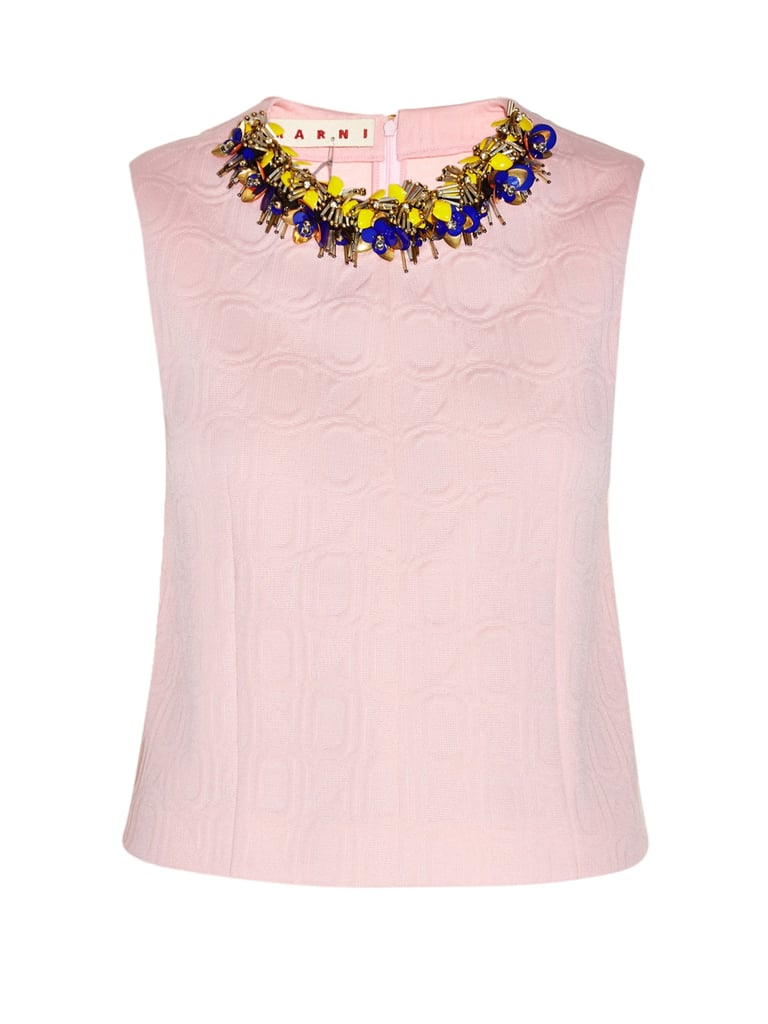 Marni Flower Bead-Embellished Jacquard Top (£980)