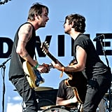 Dan Boeckner and Alex Fischel from Divine Fits got close on stage on day one of the festival.