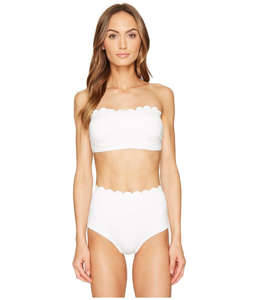 c409dab3bf5a6 Kate Spade New York Scalloped Bandeau Bikini