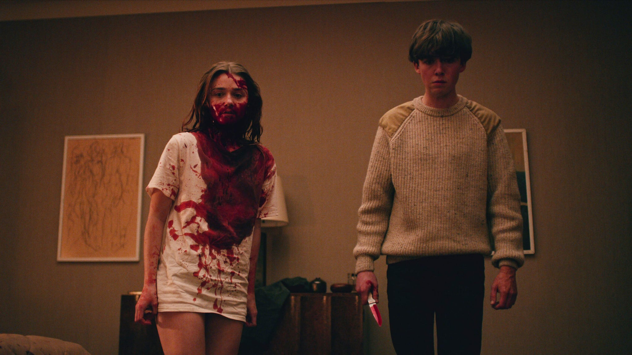 THE END OF THE F***ING WORLD, from left: Jessica Barden, Alex Lawther, (Season 1, aired in U.S. on Jan. 5, 2018). photo: Netflix / courtesy Everett Collection