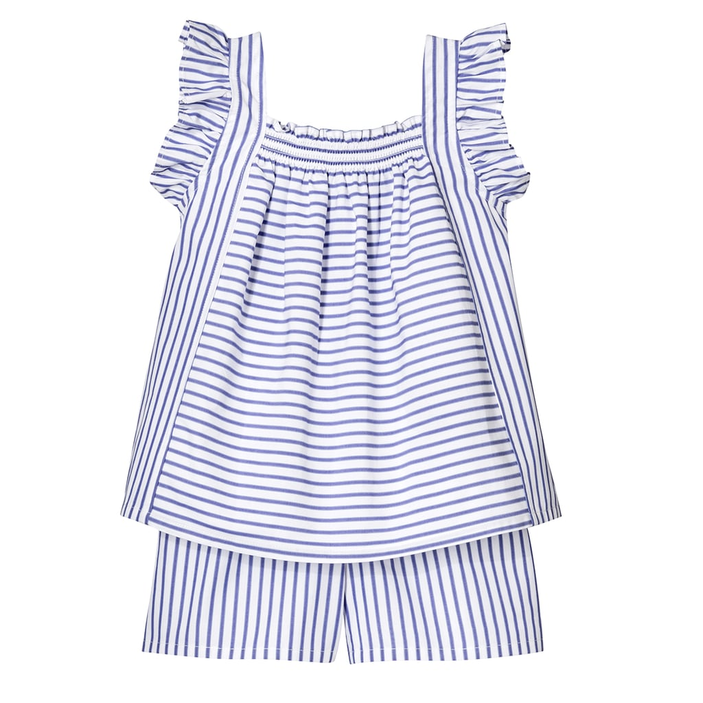 Toddler Girls' Blue Stripe Poplin Tank Top and Short Set  ($20)