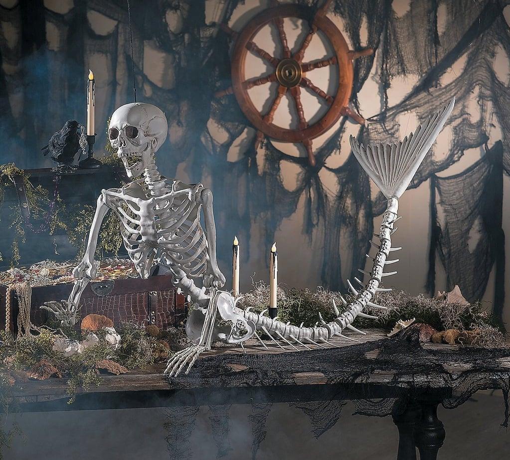 Life-Size Original Mermaid Skeleton Halloween Decoration