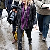 Mary-Kate Olsen completed her quirky Sundance look with a fresh, purple scarf and a pair of round sunnies in 2008.