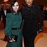 Christina Ricci and Garcelle Beauvais at the Elton John AIDS Foundation Oscars Party