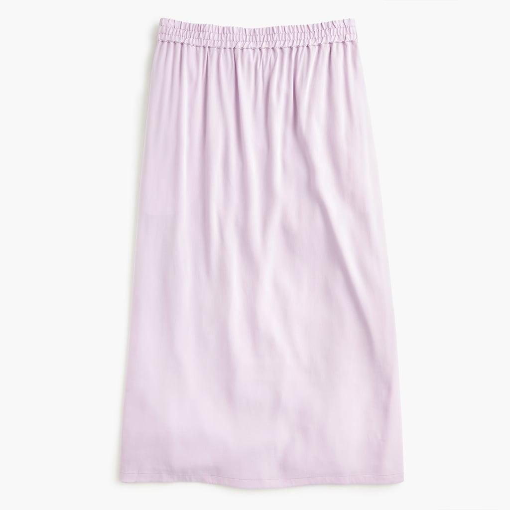 Universal Standard x J.Crew Cupro Shirred Midi Skirt