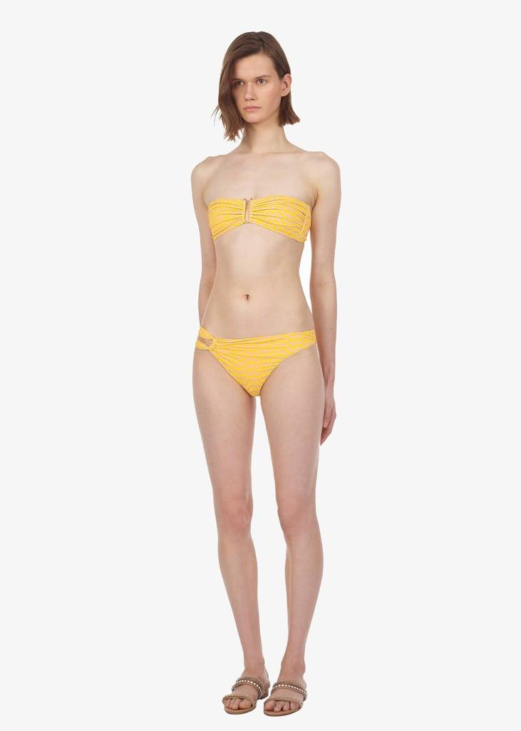 Self-Portrait Yellow Logo Bikini