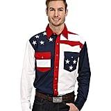 Roper Pieced Stars and Stripes Patriotic