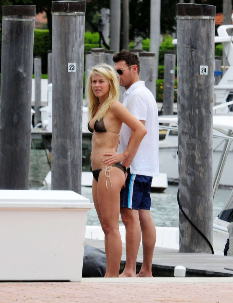Julianne Hough showed off her bikini body with Ryan Seacrest.