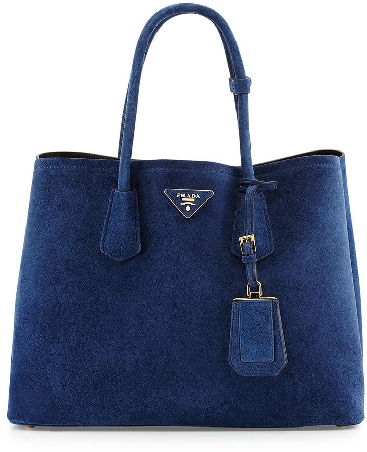 Prada Suede Medium Double-Pocket Tote Bag ($2,750)