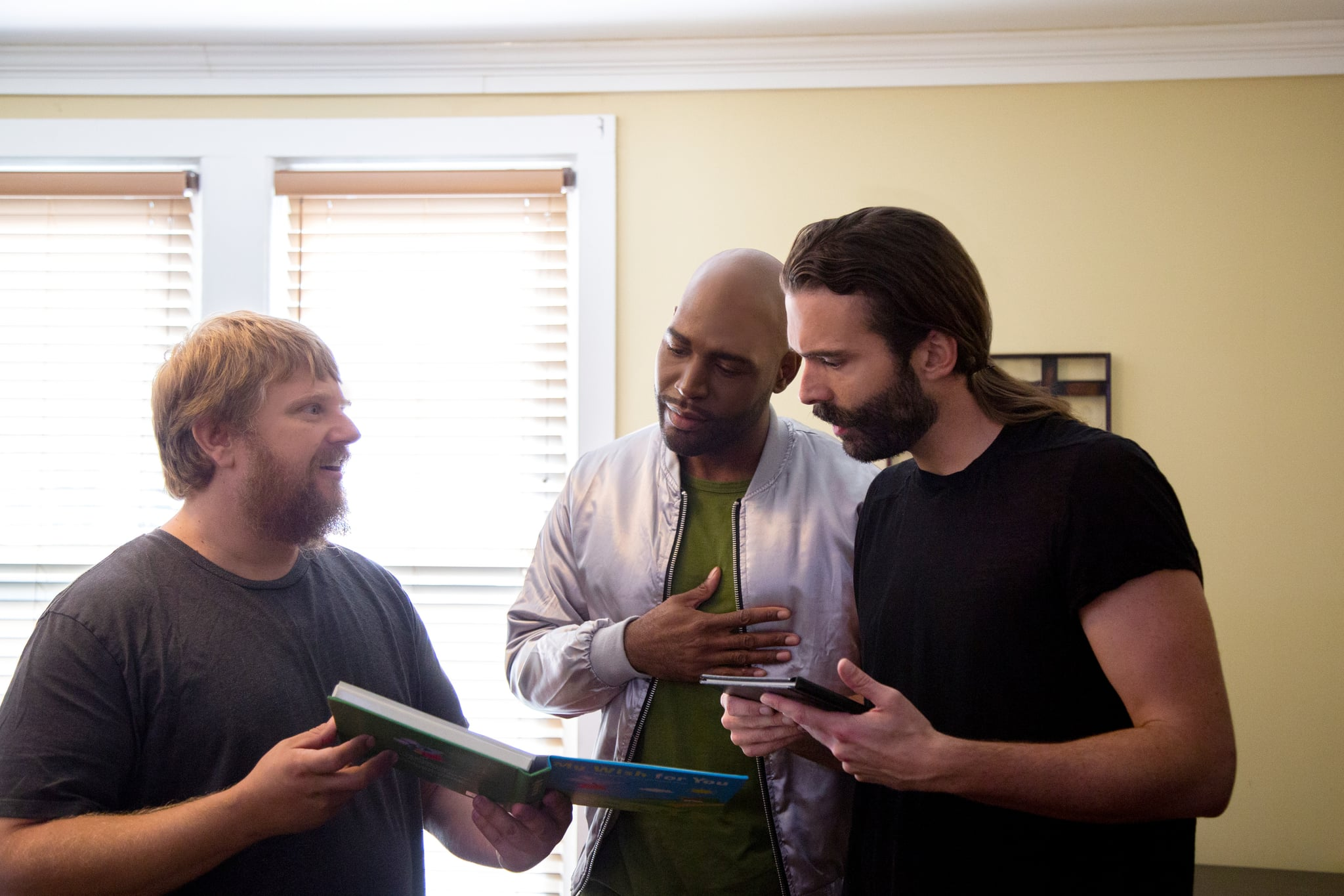 QUEER EYE, from left: Rob Elrod, Karamo Brown, Jonathan Van Ness, (Season 3, ep. 306, airs March 15, 2019). photo: Christopher Smith / Netflix / Courtesy: Everett Collection