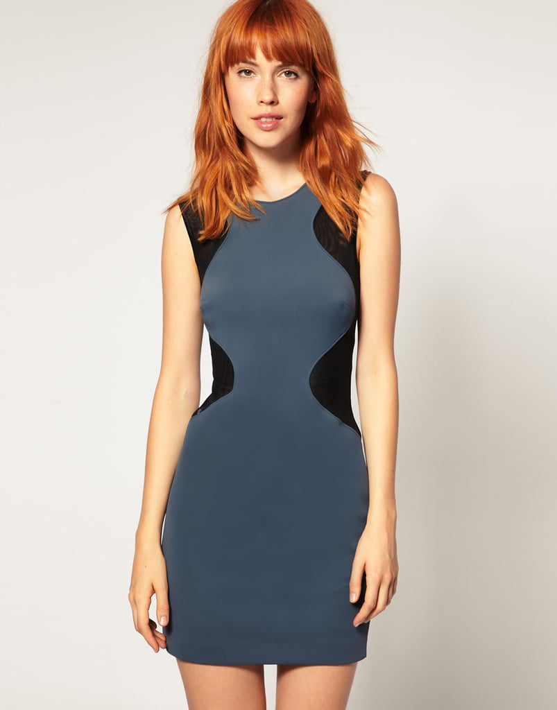 ASOS Black Two-Tone Contour Body Conscious Dress ($52)