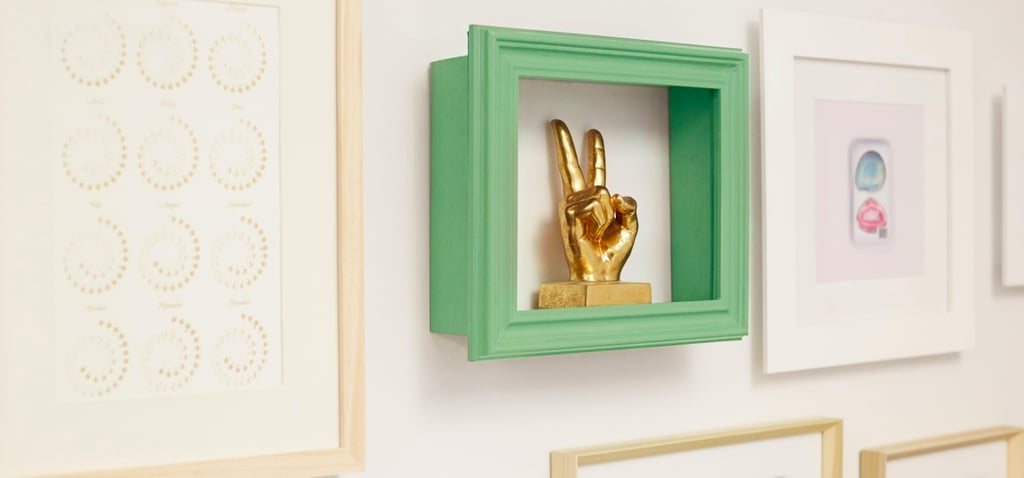 Give Your Walls a Big Pop of Color With DIY Frame Shelves