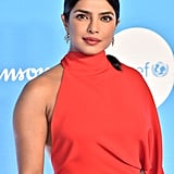Priyanka Chopra's Red Salvatore Ferragamo One Shoulder Dress