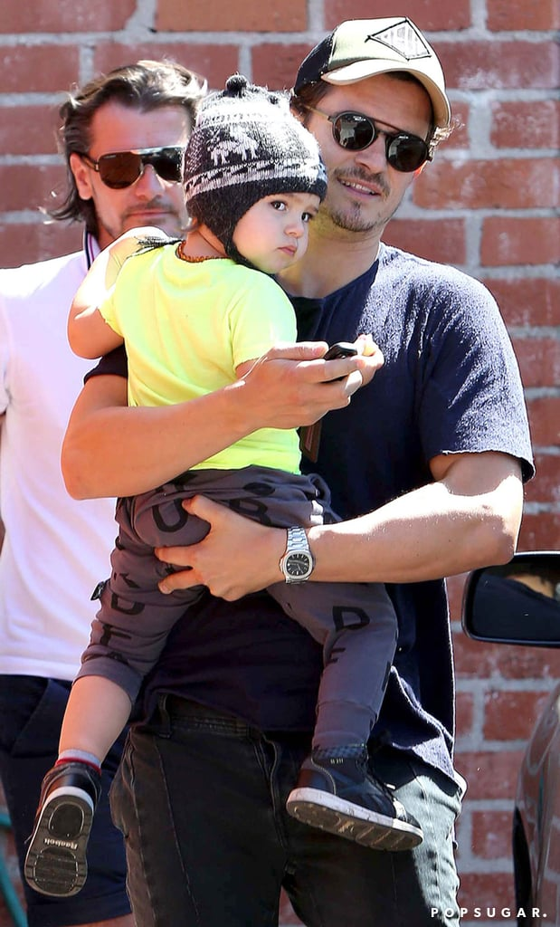 Orlando and Flynn Bloom were out in LA together on Thursday.