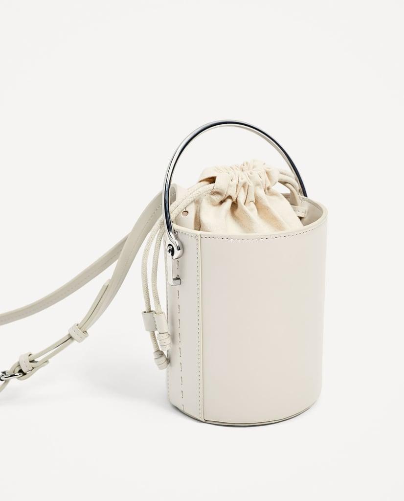 Zara Cross-Body Bag With Metallic Handle